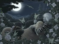 Moonlight garden by hibbary on DeviantArt